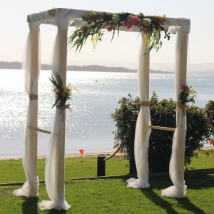 Wooden Arch - Amy & Keith's wedding