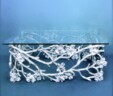 """""""Florence"""" – Silver Metal and Glass Cake Stand"""