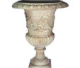 Scroll Patterned Fibreglass Urn