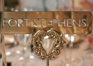 Gold, Ornate Heart Table Number Holders