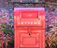Old Fashioned Red Metal Letterbox