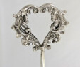 Silver Ornate Heart Table Number Holders