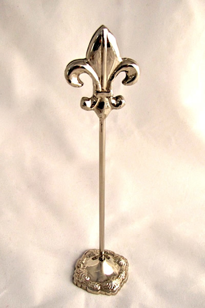 Fabulous Silver Fleur de Lis Table Number Holder | Events2Celebrate  FO68